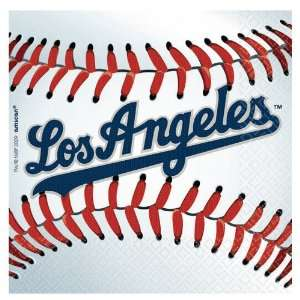 Lets Party By Amscan Los Angeles Dodgers Baseball   Beverage Napkins