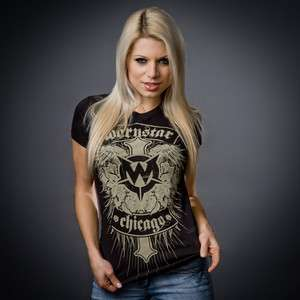 Wornstar Womens Apparel Chicago Sexy Rock Clothing T Shirt
