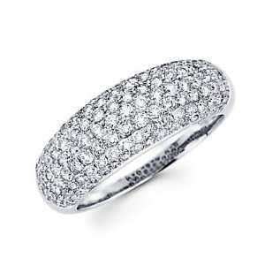 Diamond Pave Dome Ring Band 1.30ct (G H Color, I1 Clarity) Jewelry