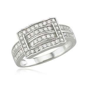 White Gold Diamond Ring Diamond quality AA (I1 I2 clarity, G I color