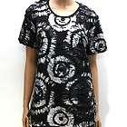 Womens Black Silver Powder Print Ripped T Shirts L / Punk Shirt