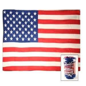 United States Flag Super Soft Fleece Blanket (Measures Approx. 50 x