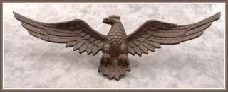 SPREAD WINGED EAGLE Cast Iron WALL PLAQUE SCULPTURE