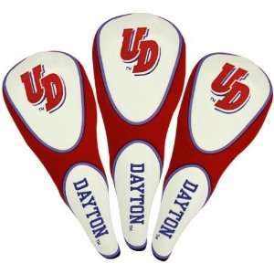 Dayton Flyers Red Three Pack Golf Club Headcovers Sports