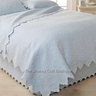 Matelasse Quilt & King Pillow Sham Bed Set Shabby French Country Chic