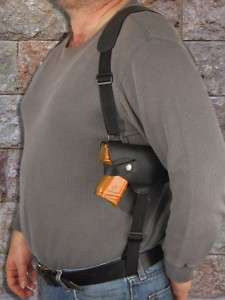 Black Leather Shoulder Holster for WALTHER PPS 9 40 45