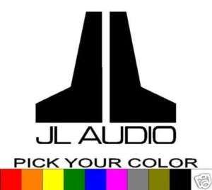 JL AUDIO 6 LOGO DECAL STICKER VINYL CAR WINDOW