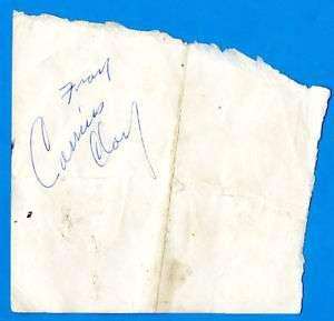 1962 Cassius Clay Vintage Signature (Muhammad Ali)