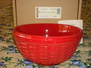 Longaberger Tomato 9 in Woven Reflections Pottery Bowl