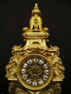Large Antique French Neo Renaissance Bronze Clock ca 1890