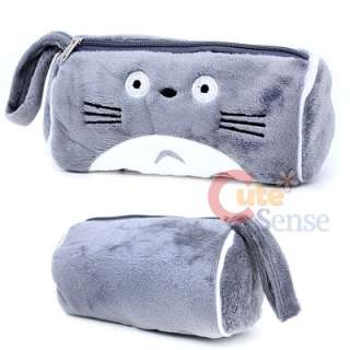 Grey Totoro Plush Pencil Case Cosmetic Bag Pouch Large