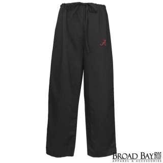 University of Alabama Black Logo SCRUBS Pants Size Lg 763922281918