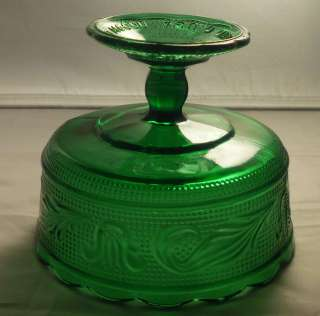 Brody Co M6000 EMERALD GREEN Glass COMPOTE Pedestal Bowl Dish