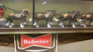 Beer Clydesdale Horses Big Bar Sign Clock Bar Light MUST SEE