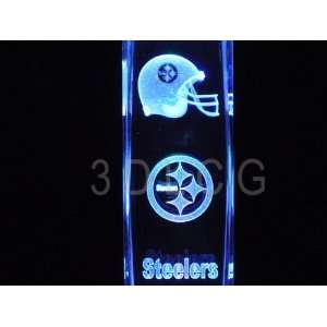 NFL Pittsburgh Steelers 3D Laser Etched Crystal 6 Inch