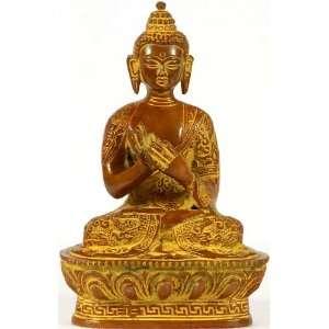 Preaching Buddha   Brass Sculpture