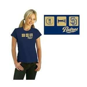 San Diego Padres Womens Eat, Sleep, Team T shirt by G III