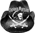 Beer Hats Black Captain Morgan Straw Western Cowboy Hat