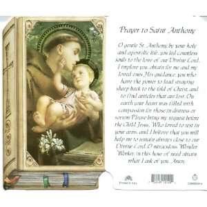 Saint Anthony Holy Prayer Card