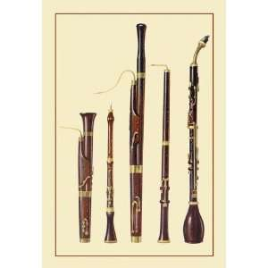 Dolciano, Oboe da Caccia, Oboe, Basset Horn and Bassoon