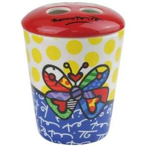 Romero Britto Butterfly Toothbrush Holder from Westland