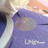 120 Wedding Envelope GOLD Sticker Seal DOUBLE HEART