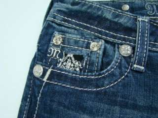 New Auth Girls Miss Me Rhinestone Embellished Bootcut Jeans Size 10