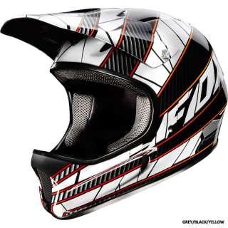 Fox Racing Rampage Helmet Grey Black Yellow Downhill BMX Bicycle Size