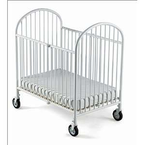 Pinnacle Steel Folding Crib Full Size in White by