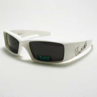 WHITE Mens Gangster Sunglasses Cholo Style LOCS Biker