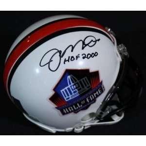 Mini Helmet   HOF Hologram   Autographed NFL Mini Helmets Sports