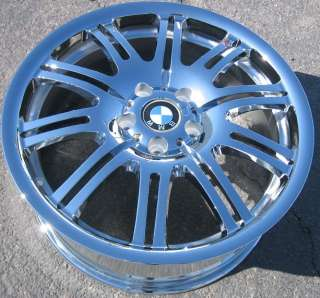 FACTORY BMW M3 OEM CHROME WHEELS RIMS 335i 328i Z3 EXCHANGE YOUR STOCK