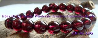 High Quality Natural Garnet Bracelet Round beads 8mm