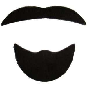 Mustache Sheik Arab Goatee Black Moustache Costume