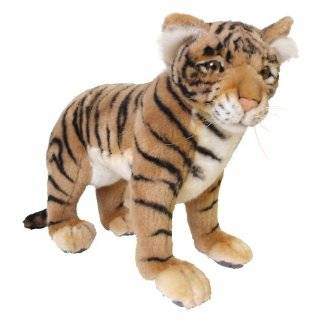 Hansa Tiger Cub Stuffed Plush Animal, SItting Toys