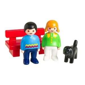 Playmobil 123 Woman/Man W/Dog Toys & Games