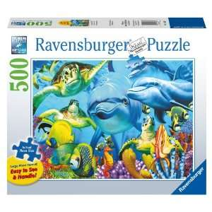 Underwater Smiles 500 Piece Large Format Puzzle Toys & Games
