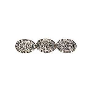 Cousin Jewelry Basics Acrylic Beads silver Large Oval 9/pkg 3 Pack