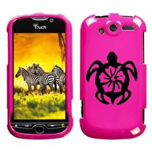 HTC MYTOUCH 4G BLACK TURTLE ON A PINK HARD CASE COVER