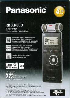 Q42 New Panasonic RR XR800 4GB Digital Voice Recorder w/Microphone USB