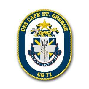 US Navy Ship USS Cape St. George CG 71 Decal Sticker 5.5