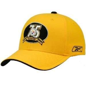 Reebok Pittsburgh Steelers Gold 75th Anniversary Pro Shape Hat