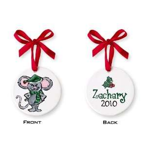 Christmas Mouse Small Circle Ornament