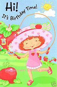 Strawberry Shortcake Happy Birthday Greeting Card