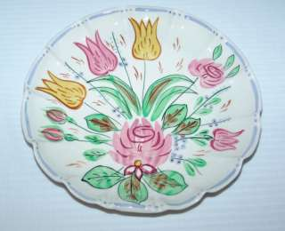 Blue Ridge Southern Pottery Nove Rose Dot Dash Plate
