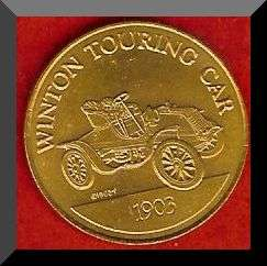 Franklin Mint Antique Car Coin 1903 WINTON TOURING CAR