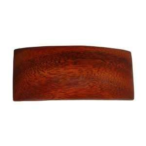 Hawaiian Koa Wood Large Rectangle Hair Clip Barrette From