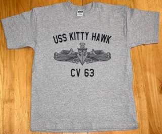 US Navy USS Kitty Hawk CV 63 T Shirt Aircraft Carrier