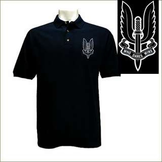 SAS British Special Air Service Button Up Black Shirt