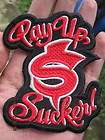 PAY UP $ SUCKER PATCH JESSE JAMES WEST COAST CHOPPERS RED BLOOD CFL